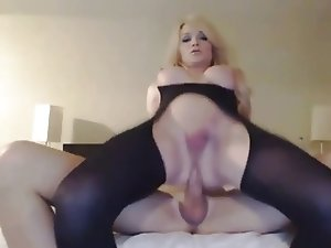 british tranny rides her boyfriends cock on web cam