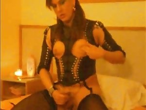 Shemale Mistress fucks slave